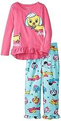 Komar Kids Big Girls'  Doggy Pajama Set