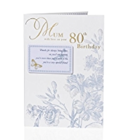 Keepsake Note 80 Mum Birthday Card