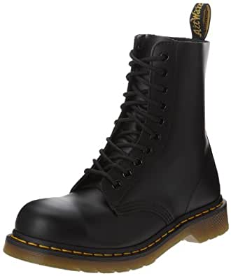 Dr. Martens Classic 1919 Steel Toe Boot,Black Fine Haircell,13 UK/14 M US
