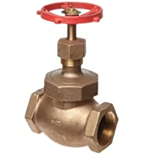 Milwaukee Valve 570 Series Bronze Globe Valve, Class 200, Inline, Union Bonnet, NPT Female