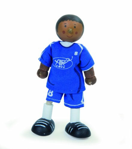Budkins Soccer Player Footballer #8 Toy Figure, Blue
