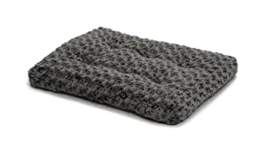"Midwest Quiet Time Pet Bed Deluxe Gray Ombre Swirl 23"" x 18"""