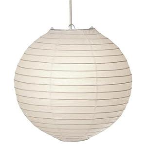 Lampenschirm seletti rund papier decken lampe wei 40cm - Papierlampe rund ...