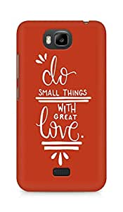 AMEZ do great things with love Back Cover For Huawei Honor Bee