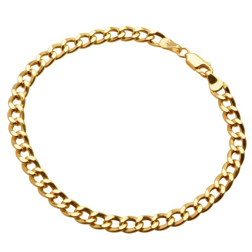 10k Yellow Gold 5.5mm Diamond-Cut Curb Chain