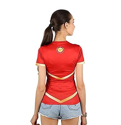 G-LIKE Women Wonder Woman Sports Compression T-shirt