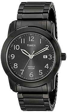 buy Timex Men'S T2P1359J Elevated Classics Black Bracelet Watch