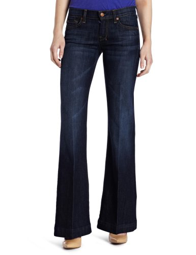 7 For All Mankind Women's Petite Dojo Short Inseam Jean, Midnight New York Dark, 28