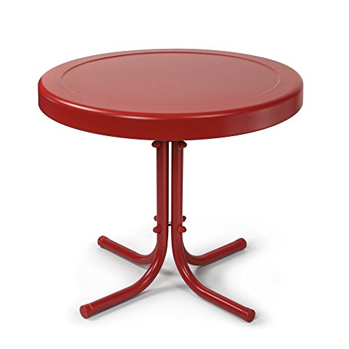 Griffith Metal Side Table Color: Coral Red image