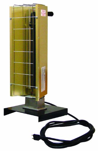 Tpi Corporation Fhk212-1Ca Portable Electric Infrared Heater, Pre Wired, Metal Sheath, 15' Length Cord, Grounded Plug