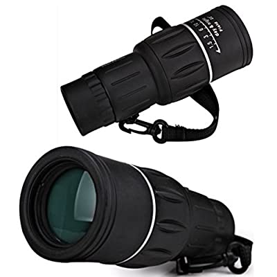 TOMO Aoneky 10 X 40 Dual Focus High Powered Monocular Telescope for Bird Watching, Watching Wildlife or Scenery, Non-Slip Grip, Bright and Clear Range of View, Compact and Lightweight Lanyard Portable Design, Glimmer HD Day and Night Vision Scope, Real 10