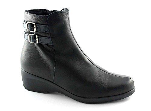 CINZIA SOFT IR90820 nero scarpe donna stivaletto fibbie zip laterale 39