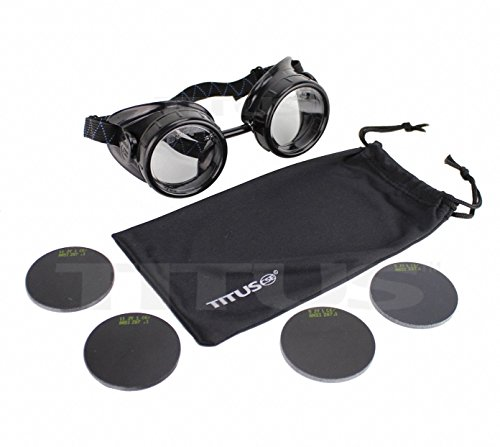 Titus #5 + #11 Industrial Steampunk Welding Goggles (With Pouch) (5 16 Glass Fuel Filter compare prices)
