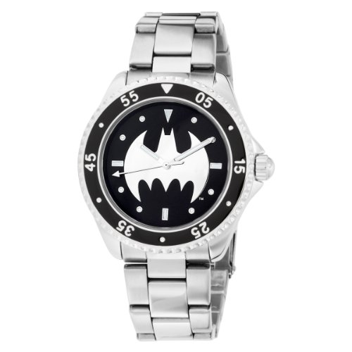 Armitron Men's 800-41 Character Batman Round Stainless Steel Watch