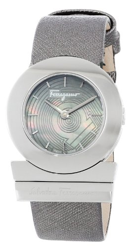 """Salvatore Ferragamo Women's FP5010013 """"Gancino"""" Stainless Steel Watch with Saffiano Leather Band image"""