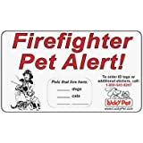"""Firefighter Pet Alert Stickers - 3M Reflective 3"""" x 5"""" Stickers - Set of 2 or more stickers"""