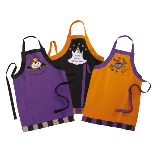 Grasslands Road Halloween Apron Assortment, 32 By 26-Inch, 3-Pack