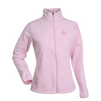 NFL Ladies New Orleans Saints Sleet Micro Fleece Sweatshirt by Antigua