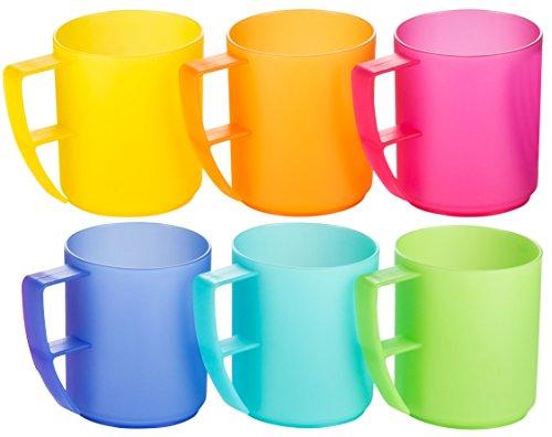 Haushaltsdose-Trinkbecher-Rainbow-mit-Henkel-042l-6er-Set-extra-stabil-bunt