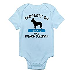 CafePress French Bulldog Infant Creeper Infant Bodysuit - 3-6M Sky Blue