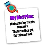 qs_163894_1 EvaDane - Funny Quotes - My diet plan make all of my friends cupcakes. Purple. - Quilt Squares - 10x10 inch quilt square