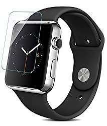 2x Flexible Screen Protector for for Apple Watch (42mm),PC Castle® Full Screen Coverage,High Quality99% HD Clarity,Accurate and Responsive Touchscreen