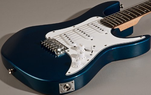 New Axl Metallic Blue Junior Jr 3/4 Size Strat Style Electric Guitar