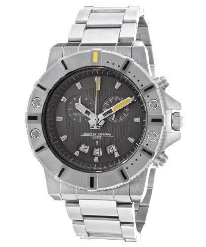 Jorg Gray JG9500-14 44mm Silver Steel Bracelet & Case Sapphire Crystal Men's Watch