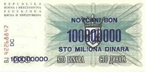 Bosnia-Herzegovina 100,000,000 Dinara, Pick 37