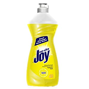 Joy Non-Ultra Dishwashing Liquid, Lemon Scent, 14 Ounce (Pack of 25)