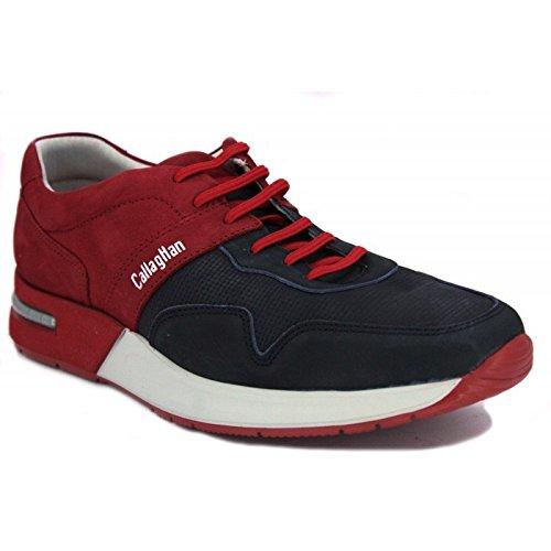 CallagHan, Sneaker uomo Beige beige, Blu (blu/rosso), 43
