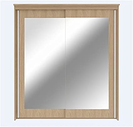 RIO Sliding Door Wardrobe With Spot Lights - UK ONLY by Furniture Factor