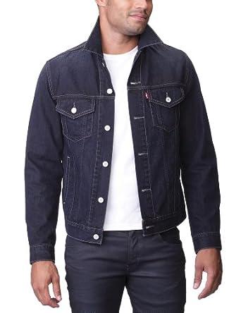 Levi 39 s trucker veste en jeans uni coton homme for Bureau en gros levis