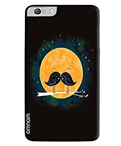 Omnam Two Birds Loving Each Other With Moon Background Printed Designer Back Cover Case For Micromax Knight 2 E471