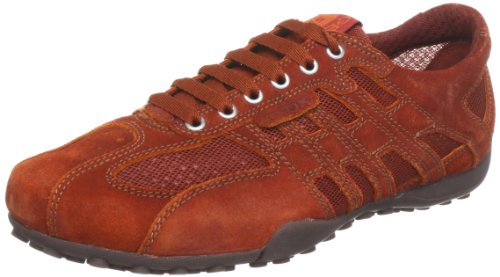 Geox Geox Men's Dark Orange Mesh Sneakers - 7 UK