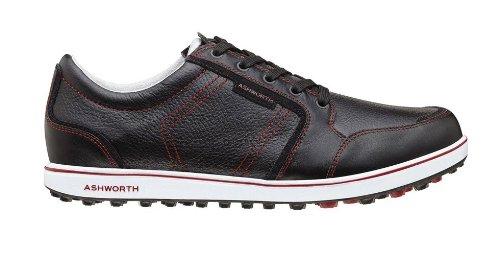 Ashworth Cardiff ADC Golf Shoe (9.5 US Mens, Black/Cardinal/White)