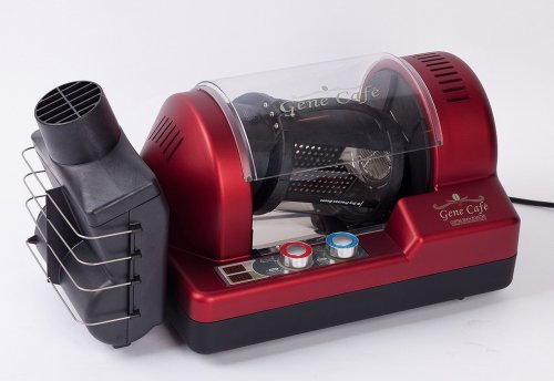 Gene Cafe Programable 12 Oz Coffee Roaster + Ventable Chaff Collector + 3 Lbs Coffee