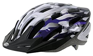 Ventura 730906 Helm Semi-in-Mold Helm, silber/weiß/ blau, M (54-58 cm) by Ventura