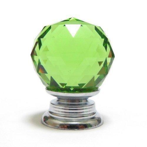 DECOOL (TM) 10X 40mm Grün Diamant Kristall Moebelknopf Moebelknoepfe Moebelknauf Griff Knopf Schrauben Möbelgriffe Set Schrankgriff Neu günstig kaufen