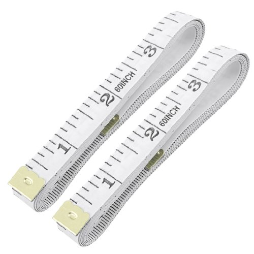 Amico Tailor Craft Flexible Ruler Tape Measure White 1.5M 4.92Ft 2pcs