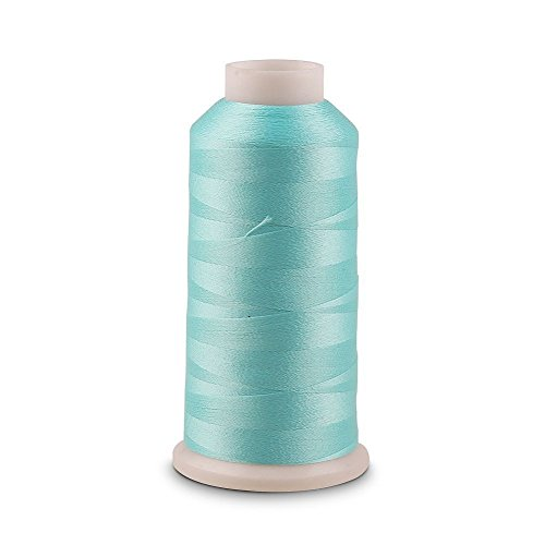 Light Blue Glow 3000 Yards Luminous Glow In The Dark Machine Embroidery / Sewing DIY Thread no.03