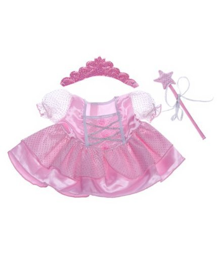 Fairy Princess w/Wand & Tiara Dress Teddy Bear Clothes Outfit Fit 14
