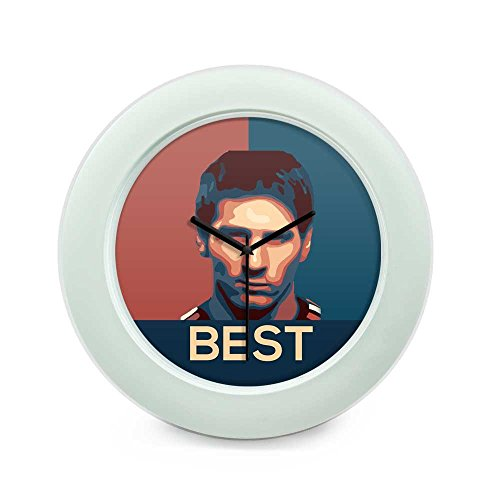 BigOwl Lionel Messi Barcelona Best Football Table Clock 1347502725-FWHT-HBLK  available at amazon for Rs.549