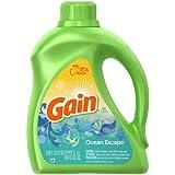 Gain with Freshlock Ocean Escape Liquid Detergent 64 Loads, 100 Fl Oz