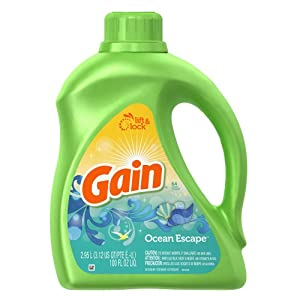 Gain with Freshlock Ocean Escape Liquid Detergent 64 Loads, 100 Fl Oz