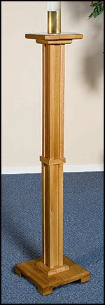 Wood Church Paschal Candleholder Candle Stand Easter 2
