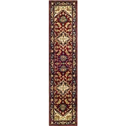 Safavieh Heritage Collection HG625A Handmade Traditional Oriental Red Wool Runner (2\'3\