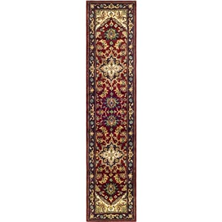 """Safavieh Heritage Collection HG625A Handmade Red Wool Area Runner, 2 feet 3 inches by 20 feet (2'3"""" x 20')"""