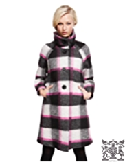 Best of British Wool Rich Checked Cocoon Coat