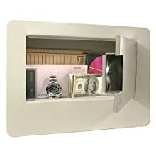 Buddy Products Wall Safe with Double Reinforced Heavy Gauge Steel Door, 3.75 x 9 x 9.375 Inches, Putty (3100-6)